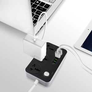 Image 5 - Power Strip Universal Socket 3 Outlets 6 Quick USB 5V 3.4A 17W Charging Station 2500W Surge Protector 6.5ft Cord Circuit Breaker