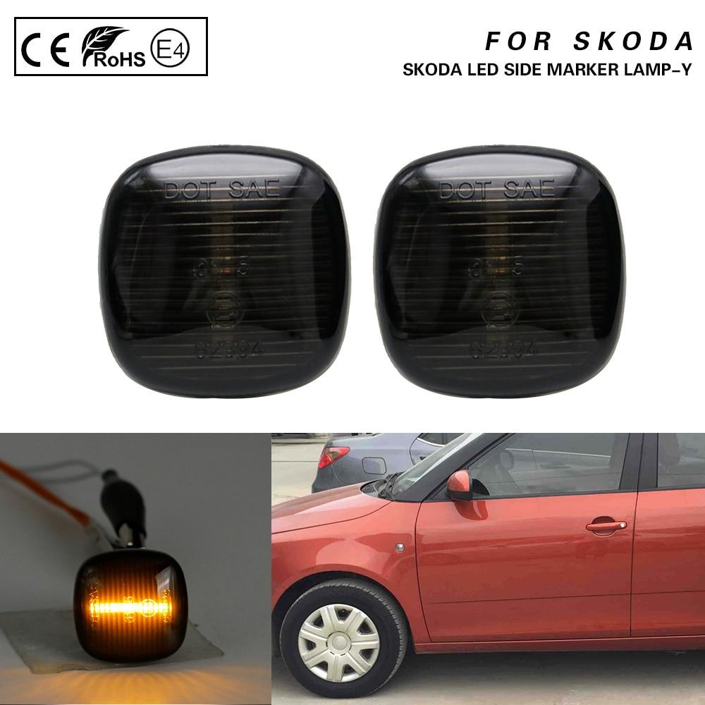 2x Skoda Fabia NJ5 4-LED Side Repeater Indicator Turn Signal Light Lamp Bulbs