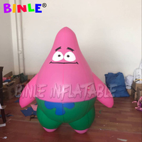 Indoor outdoor airtight giant pink inflatable piestar inflatable cartoon characters for kids event party decoration