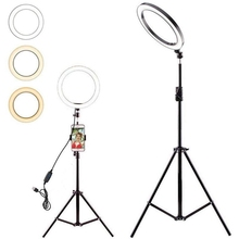 10 inch LED Selfie Ring Light with 70cm Tripod Studio Photography Photo Lights Fill Light For Phone Yutube Live Video Makeup