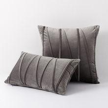Soft Pillow Cover Square Decorative Pillows Home Decor Velvet Cushion Cover For Living Room Bedroom Sofa Pillowcase