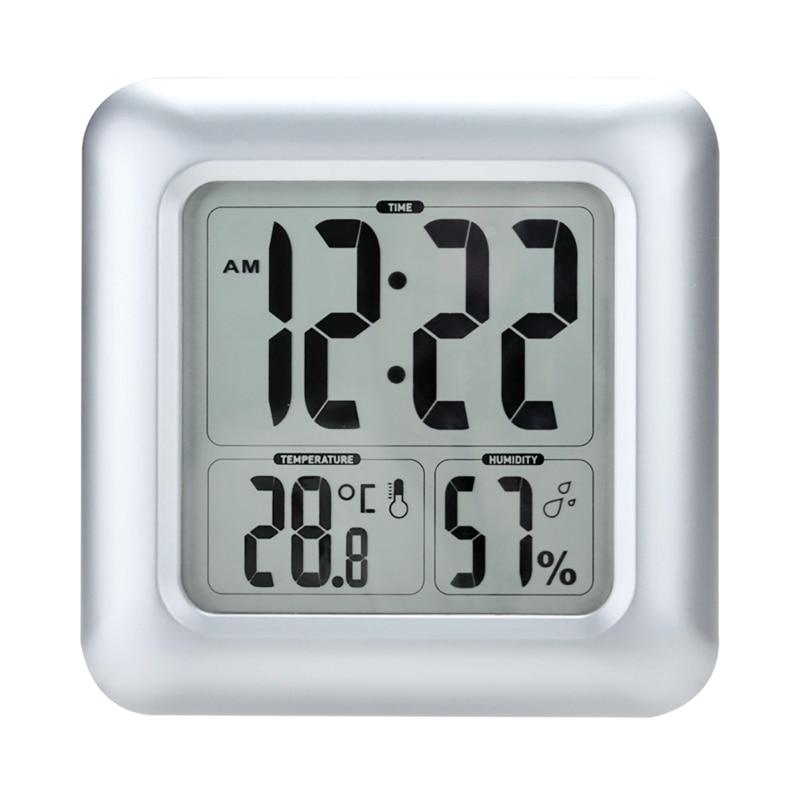 Baldr большой ЖК цифровой термометр для ванны гигрометр часы время отель Крытый водонепроницаемый украшение для праздничного стола стены вла