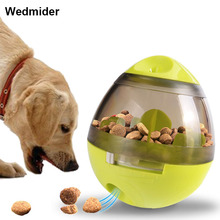 Pet Dogs Cats Fun Bowl Toy Feeder Dog Feeding Pets Tumbler Leakage Food Ball Puppy Training Exercise Toys for