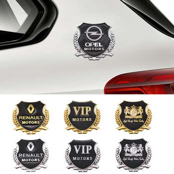 2pcs 3D Metal Car Styling Side Door Badge Stickers Side Window Emblem Decals For Mazda Renault BMW Audi Alfa Romeo Ford Benz VW car styling racing sticker body waist car stickers door side scratches decorative decals for ford vw bmw toyota audi honda mazda