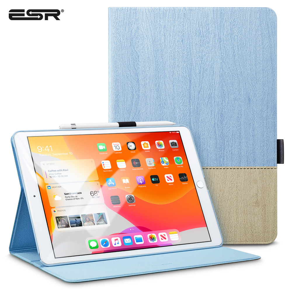 ESR IPad Case Cover Single Open Type Multi-Angle Viewing Stand With Pencil Holder For 10.2