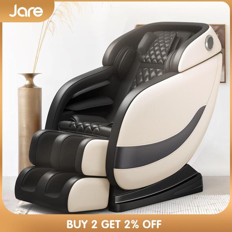 Jare Massage Chair Full Body 4D Electric Portable Zero Gravity Recliner Shiatsu Health Care Foot Spa Heating Neck Parts Massage
