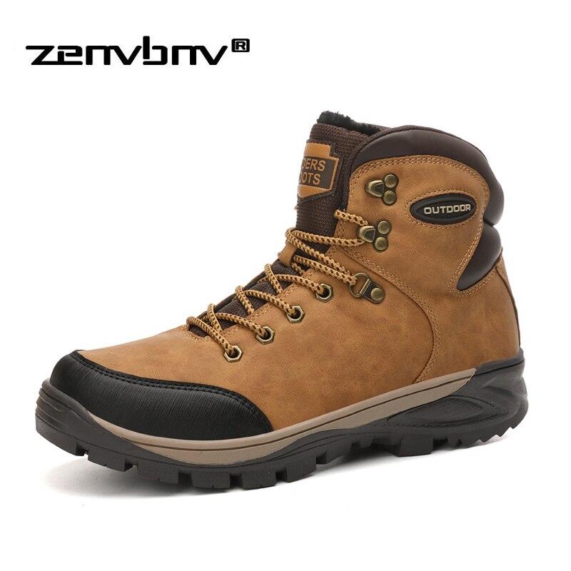 Men Boots Size 40 46 Designer Mens Shoes Winter Boots With Fur Keeping Warm Men Snow