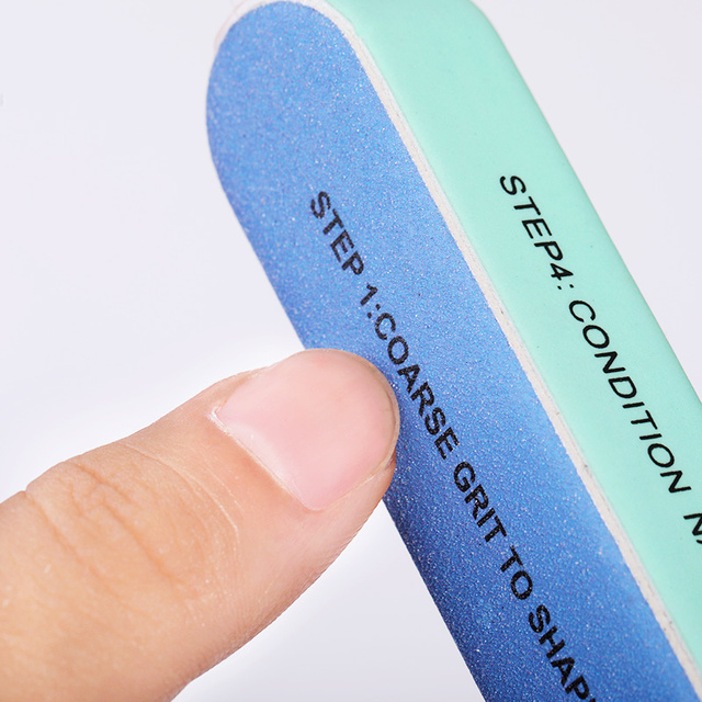 1 Pc Seven-Sided Multifunction Nail File Buffer Blue Pink Mixed Colors Grinding Sanding  Pedicure Grinding Sanding Tools  Files
