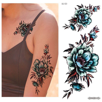 black big flower body art waterproof temporary sexy thigh tattoos rose for woman flash tattoo stickers 10 20cm kd1050 Temporary Tattoos Body Art Sexy Waterproof Fake Large Tattoo Stickers Best Sell Rose Flower Totem For Men Women Cool Stuff China