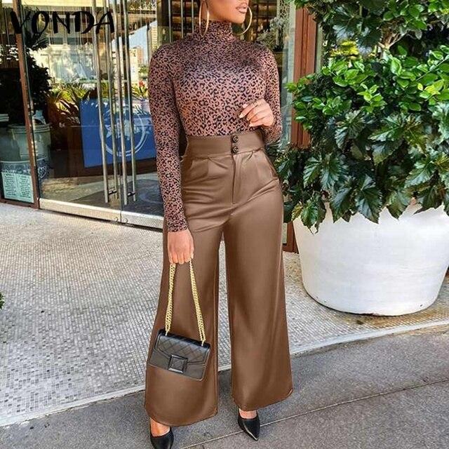 Leather Long Pants  2