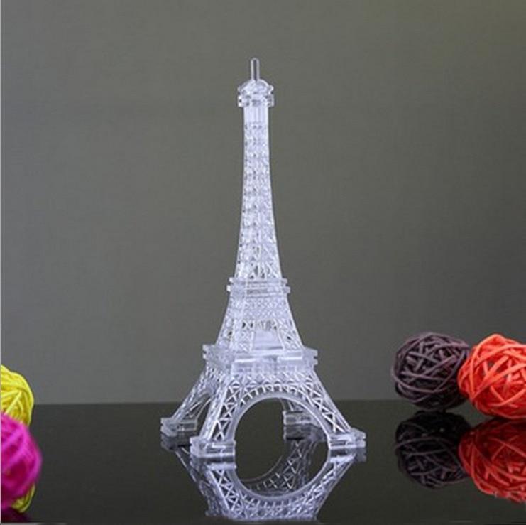 1pc Romantic Eiffel Tower Color Changing LED Night Light Bedroom Home Decoration Eiffel Tower Souvenir Eiffel Tower Statue