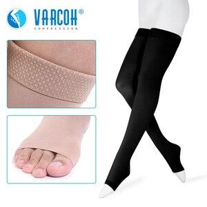 Image 1 - 30 40 mmHg uyluk yüksek sıkıştırma çorap kadınlar & erkekler tıbbi çorap, hemşirelik, yürüyüş, varisli, seyahat uçuş, koşu ve spor