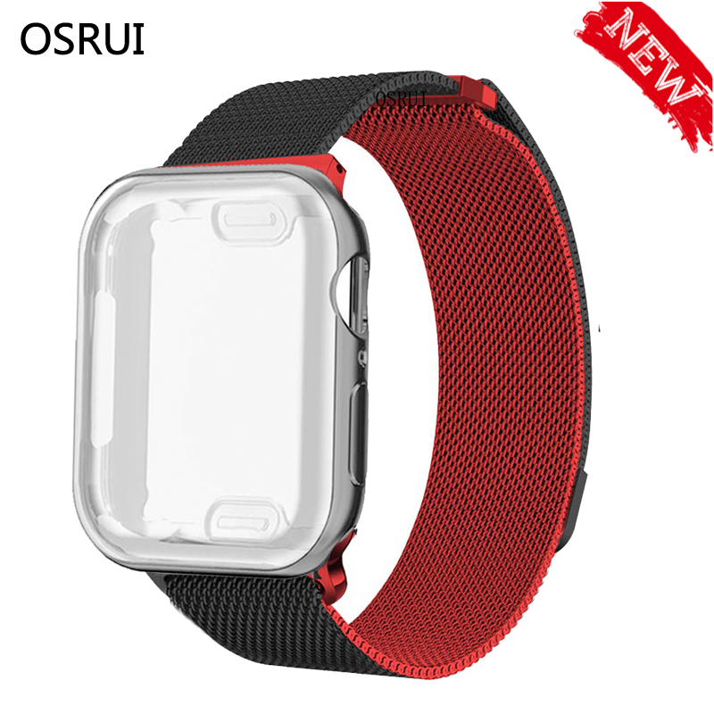 Milanese Loop Strap Case For Apple Watch Band 5 4 44mm 40mm Iwatch 42mm 38mm Stainless Steel Link Bracelet For Apple Watch 3 2 1
