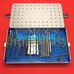 21 unids/set de microcirugía oftálmica para cirugía ocular con caja