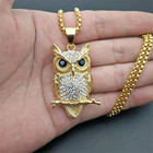 Iced Out Zircon Owl ...