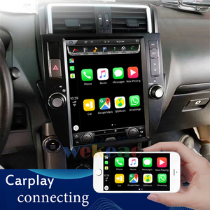 Image 2 - Wekeao tela vertical tesla estilo android 9.0 carro dvd reprodutor multimídia para toyota prado carro automotivo estéreo 4g 10 13