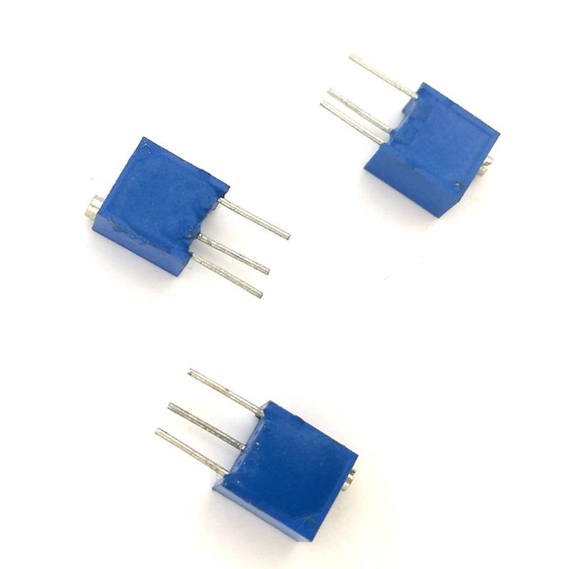 2K Ohm 20pcs 3266W 100 200 500 ohm 1K 2K 5K 10K 20K 50K 100K 200K 500K 1M ohm top Adjustable Precision Potentiometer