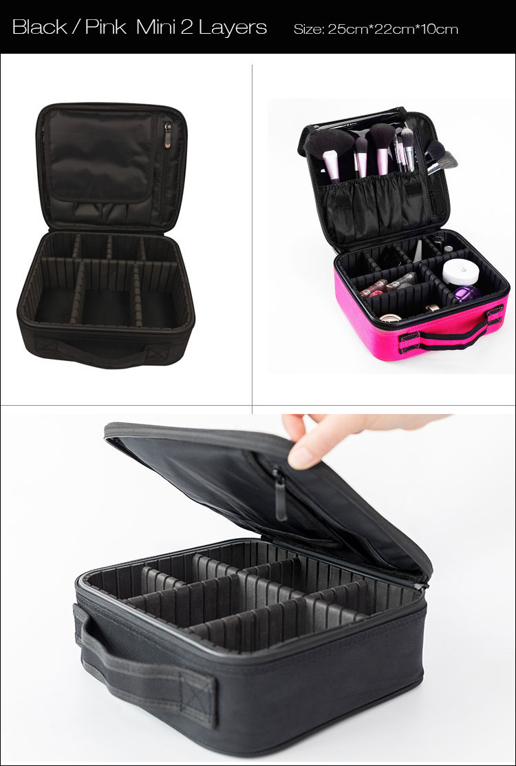 H253aeaa8988846698d97a00c5803da8fS - Women Makeup Bags Cosmetic Case Box Travel Organizer Large Capacity Professional Make Up Pouch Suitcase Brushes Storage Toolbox