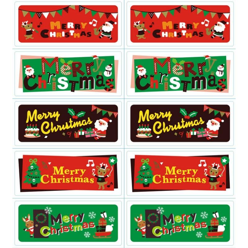 10 шт./партия рождественские наклейки Санта-Клаус Наклейки с оленями для декоративной запечатывания стикер s подарок стикер для канцелярски...