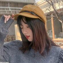 Ht3319 женские береты на весну осень женская шляпа ретро кожаный