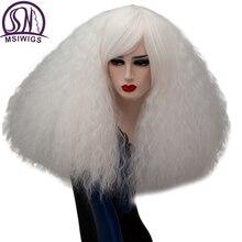 Aisi 17 Цвета вьющиеся парик блондинка синтетические парики для косплея Розовый Красный Зеленый средней длины волос афро зеленый парик для Для женщин