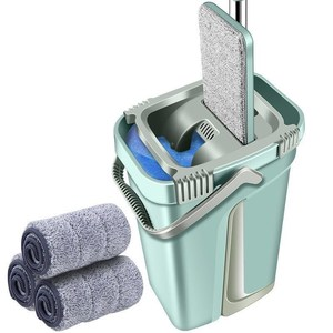 Image 2 - Magic Automatic Spin Mop With Bucket Avoid Hand Washing Ultrafine Fiber Cleaning Cloth Home Kitchen Wooden Floor Lazy Fellow Mop