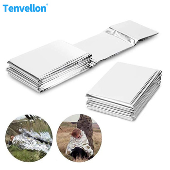 Emergency Blanket Disaster Relief Supplies thermal blanket Survival Space First Aid Sliver Rescue Curtain Military blanket
