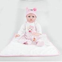 55cm Soft Silicone Handmade Reborn Baby Dolls Realistic Looking Newborn Baby Doll Toddler Cute Birthday Gift