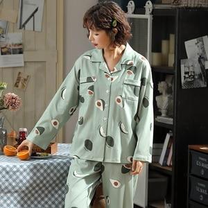Image 4 - BZEL אופנה נשים של פיג מה סטי כותנה מקרית Homewear Loungewear גבירותיי נייטי Kawaii פיג פיג מות גדול גודל Nightwear XXXL