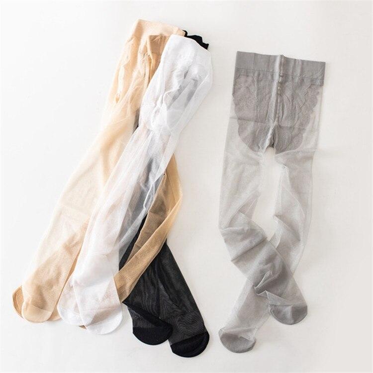 Autumn Summer Children's Pantyhose Ultra-thin Core Silk Girl White Bottoming Stockings Baby Kids Girls Tights