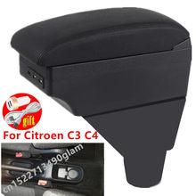 Подлокотник для Citroen C3 C4, модификация интерьера автомобиля, зарядка через USB