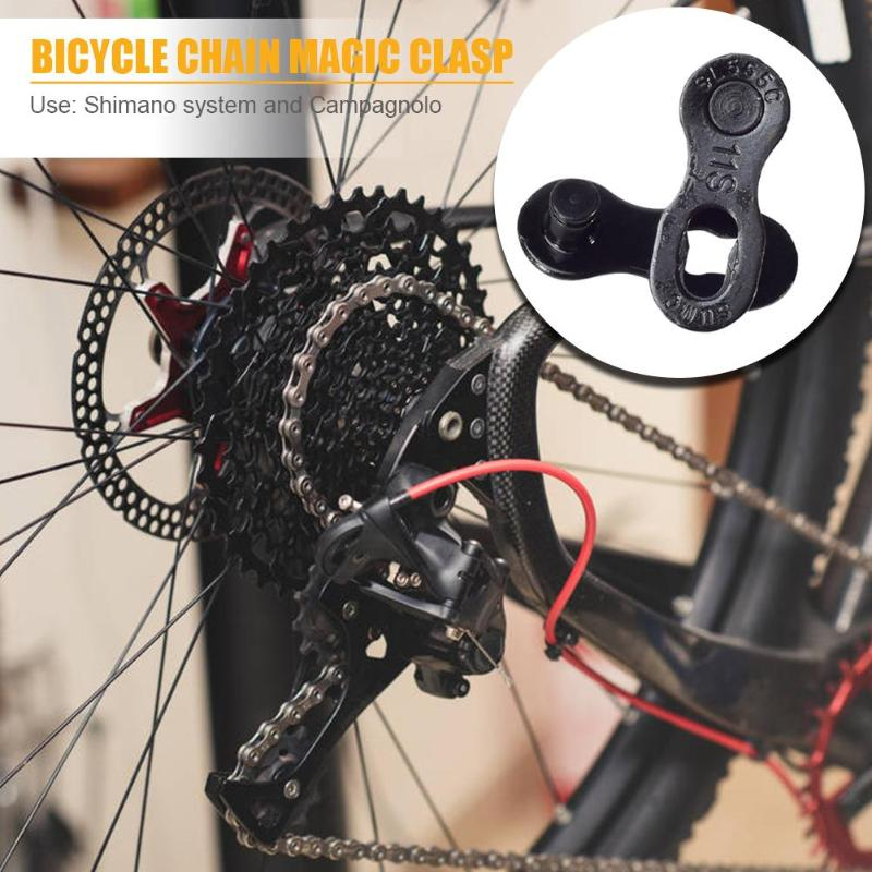 2 Pair Bicycle Chain Connector Lock Affordable Easy Use Non-slip Skillful Manufacture for 6/7/8/9/10/11/12 Speed Master Link image