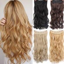"""AISI волосы 2"""" 15 цветов длинные волнистые высокотемпературные синтетические волосы для наращивания на заколках для женщин"""