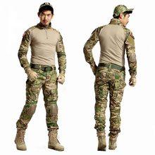 AichAngeI – uniforme militaire de Camouflage tactique pour hommes, vêtements de l'armée américaine, chemise de Combat + pantalon Cargo, genouillères