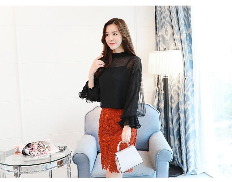 2019 Women tops and Blouses ruffless Summer autumn Long Sleeve White Shirt Casual Female Chiffon Blouse Women Clothing plus size 22