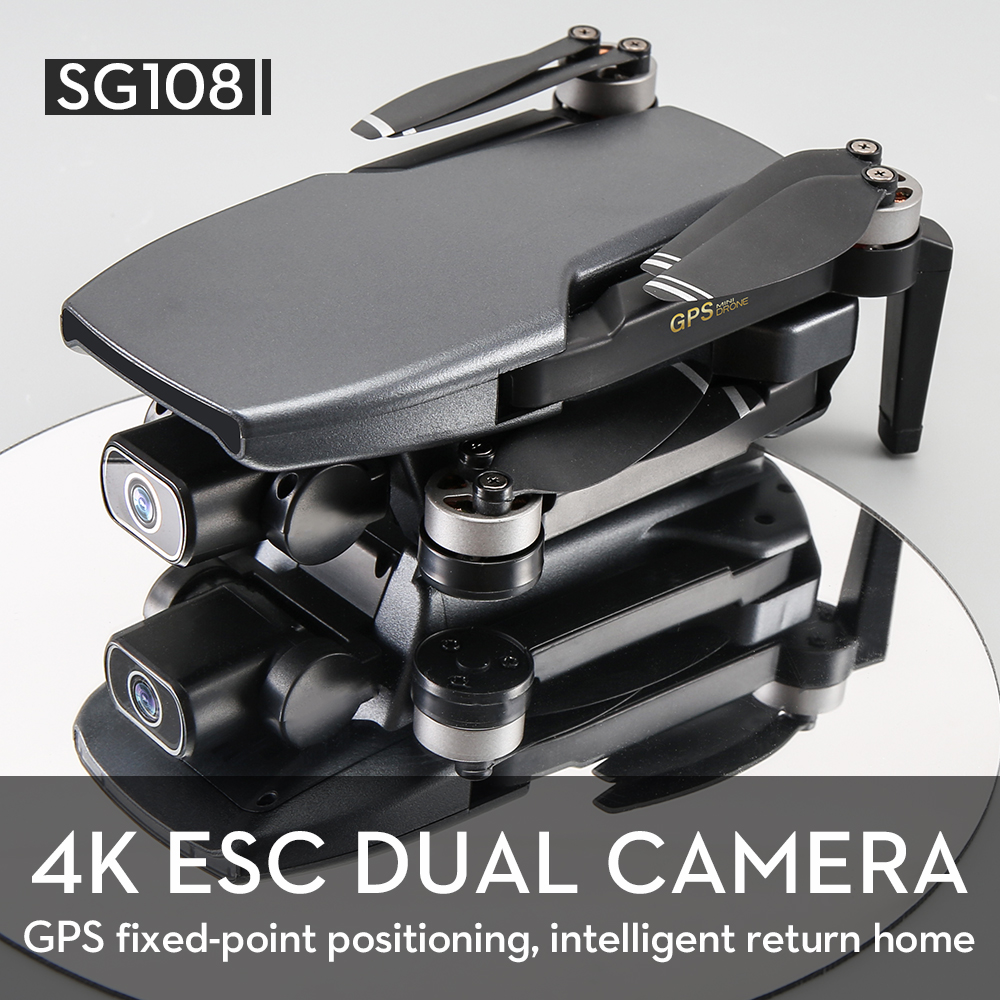 KCX SG108 Camera Drone 4K GPS 5G WiFi Brushless Motor FPV Long Distance 1km RC Quadcopter Drone 4K Professional 5