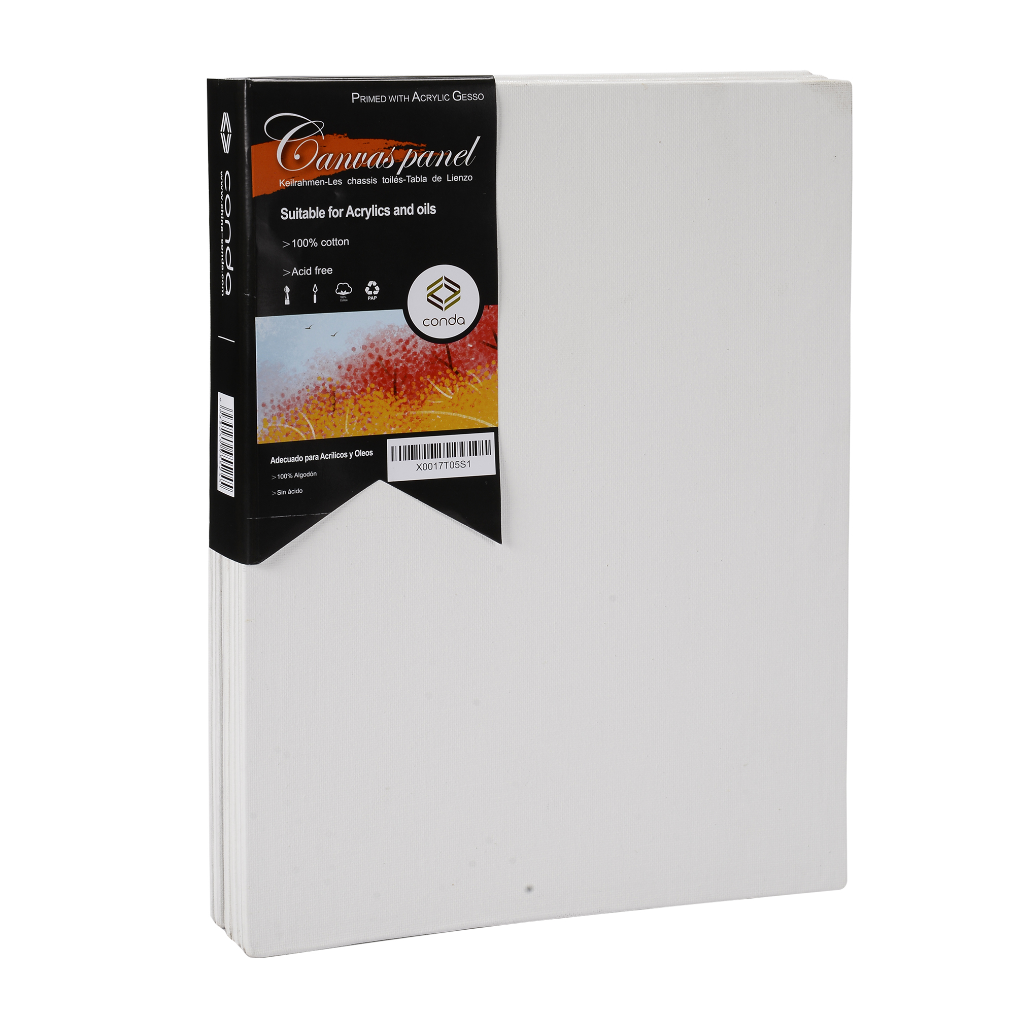 x 12 in Professional Artist Cotton Canvas Panel Board 12 Pack 12 in