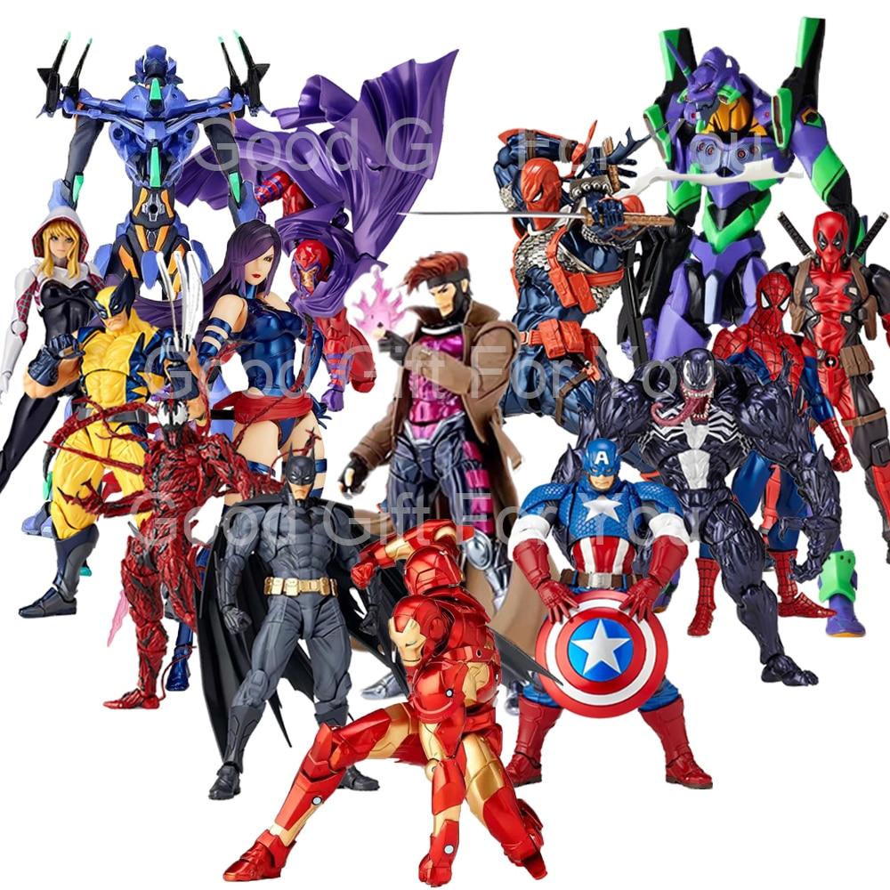 Marvel Action Figure Revoltech Venom Carnage X-Men Wolverine Carnage Deadpool Gambit Spider Iron Man Gwen Batman Action Figures