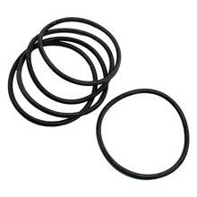 5 PCS 80 mm External Dia 4 Thick Filter Rubber O-Ring Seal Black