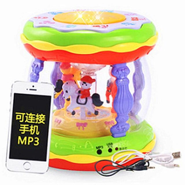 Xie Cheng Wisdom Merry-go-round Music Drum Hand Drum Children'S Educational Toy Music Tom Cy-6067a