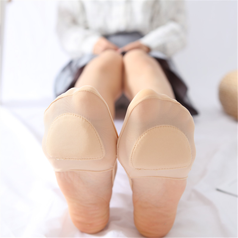 1Pair Ice Silk Sling Hollow Shallow Mouth Invisible Silicone Non slip High Heel Socks Thin Sweat absorbent Boat Socks For Female in Sock Slippers from Underwear Sleepwears