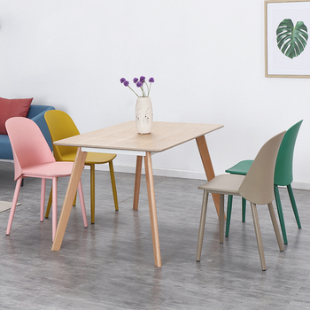 Nordic Fashion Design Plastic Gentleman Chair Dining Room Modern Restaurant Furniture Conference Office Cafe Kitchen Study Chair