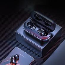 مقاوم للماء 9D ستيريو سماعة الموسيقى B5 TWS بلوتوث اللاسلكية سماعة 5.0 التحكم باللمس سماعات مع بنك الطاقة 300mAh