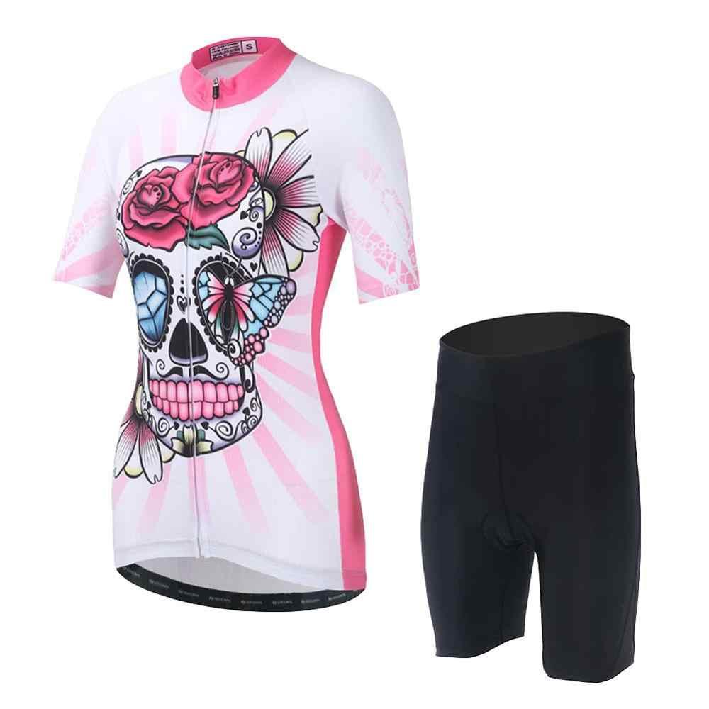 Damska letnia koszulka z krótkim rękawem jazda na rowerze Jersey rowerowa droga MTB Bike koszula sportowe na świeżym powietrzu Ropa ciclismo odzież rowerowa
