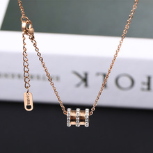 2019 Hot Sale Kolye Choker Moana Collares Rose Steel Necklace Female Clavicle Chain Tremble The Same Type Of Small Pendant