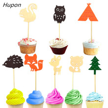 цена на Jungle Animal Party Cake Toppers Safari Birthday Party Decor Kids Disposable Tableware Banner Balloons Safari Party Supplies