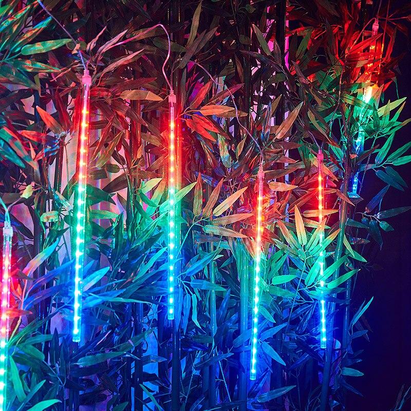 30cm/50cm LED Meteor Shower Garland Holiday Strip Light Outdoor Waterproof Fairy Lights For Garden Street Christmas Decoration