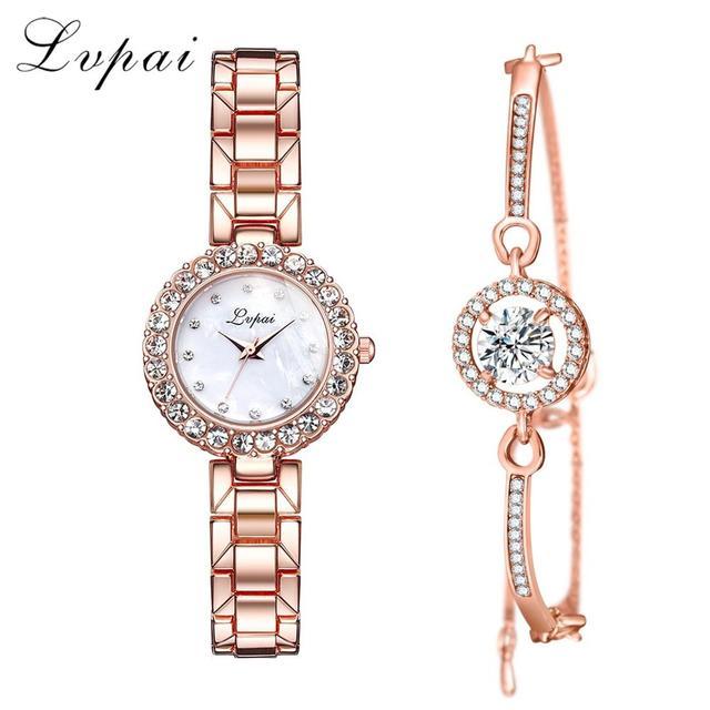 Luxury Bracelet Watches Set For Women Fashion Geometric Bangle Quartz Clock Ladies Wrist Watch Zegarek Damski 5