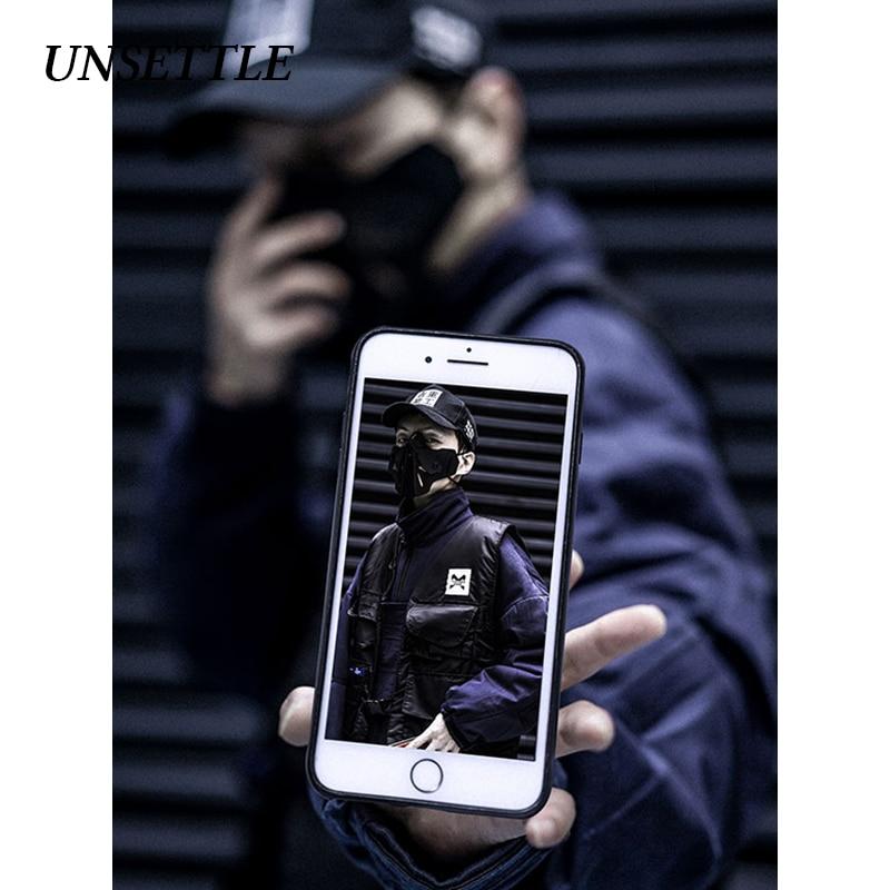 UNSETTLE 2020SS New Men's  Jacket And Vest Suit/Two Piece Suit Casual Streetwear Jacket Coat Hip Hop Cargo Multiple Pockets Tops