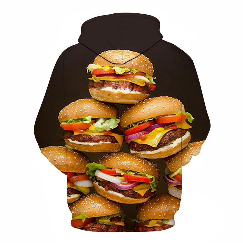 3D Printed Burger Food Drinks Hoodies 26